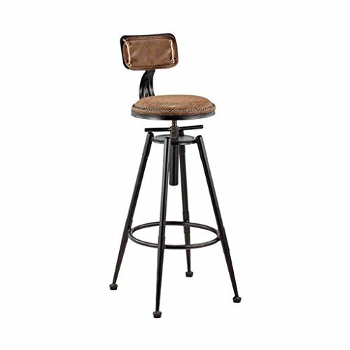 Dqms Rotating Bar Stool Metal Kitchen Industrial Retro Style