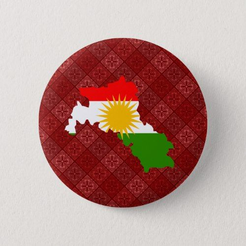 Kurdistan Flag Map Full Size Button Zazzle Com In 2020 Flag Custom Buttons Patriotic Gifts
