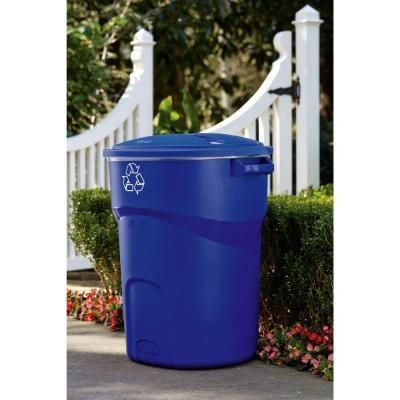 Home Depot Recycling Bins Rubbermaid Roughneck 32 Galrecycling Bin  Recycling Home And Ps