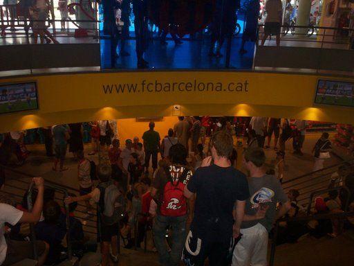 FC Barcelona zijn succesvolle fanshop bij het stadion!
