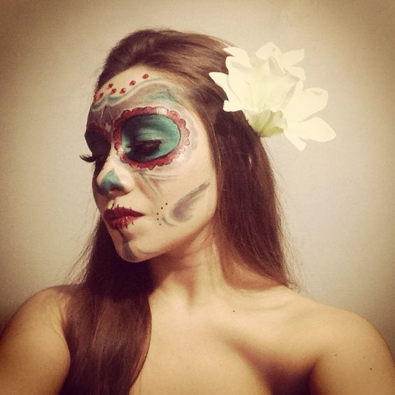 La Catrina. Sugar Skull. Halloween makeup 2014