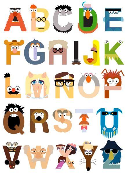 Muppet Alphabet por m_baboon es una de las presentaciones a El Desafío de Diseño Muppets!