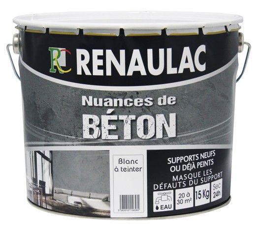 Enduit Beton Blanc Mat 15 Kg Renaulac Beton Blanc Beton Enduit