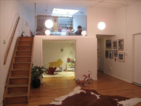 Mezzanine Living Studio Design Idea Playroom Interior