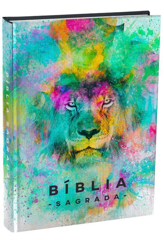 Biblia Sagrada Leitura Perfeita Nvi Capa Dura Leao Color