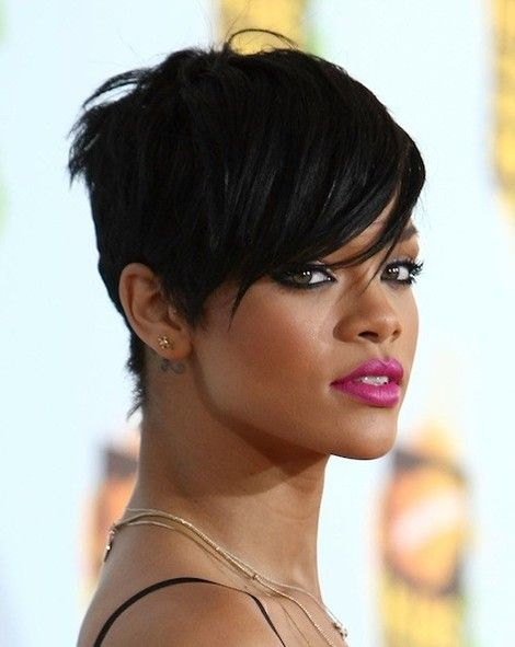 Stupendous Photographs Rihanna Pixie Cut And Cut Hairstyles On Pinterest Short Hairstyles Gunalazisus