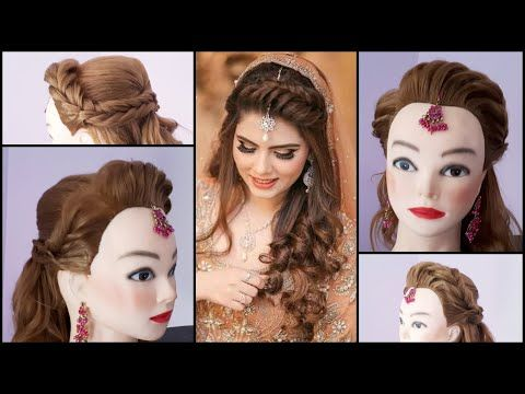 2 Awesome Easy Hairstyles For Wedding Or Function Hair Averi Journal In 2020 Bridal Hair Updo Bridal Hairdo Long Hair Styles