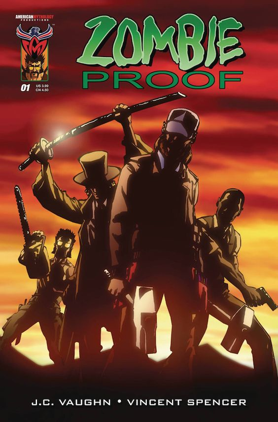 ZOMBIE PROOF: ZOMBIE ZOO #1. American Mythology. Written by J.C. Vaughn and illustrated by Vincent Spencer. This is the regular cover. Released on March 30, 2016.