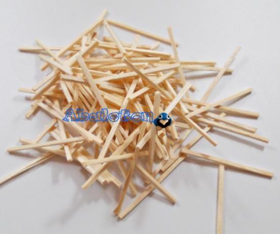 Palitos de madera color natural para manualidades 4cm for Manualidades de madera paso a paso