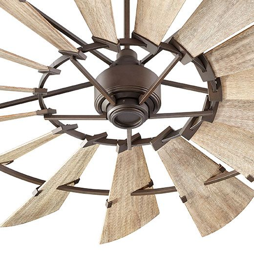 "Best Ceiling Fan For Large Great Room: 72"" Windmill Fan By Quorum International -- Farmhouse"