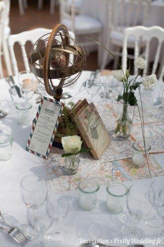 Mood 2 mariage voyage globe trotter - Decoration table mariage theme voyage ...