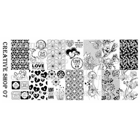 Creative Shop- Stamping Plate- 07