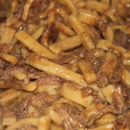 Classic Comfort Food! Crock-Pot Beef and Noodles.
