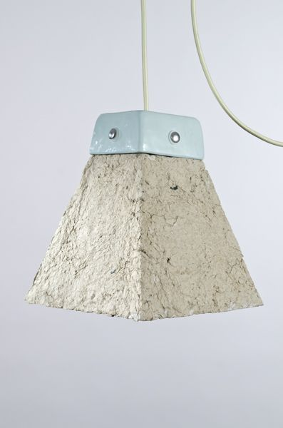 Dear Human, Lampshade from Recycled Paper Pulp