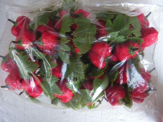 Vintage Plastic Strawberry Picks Vintage Craft Supplies. $12.00, via Etsy.
