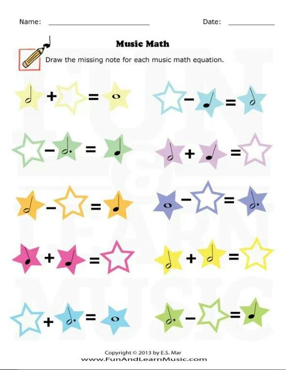Fun music math worksheet for beginners. | Piano Lessons: Rhythm ...