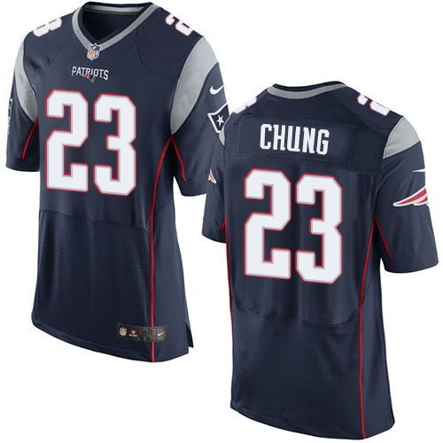Wholesale Men\'s New England Patriots Patrick Chung #23 Green Salute To Service  for sale bRyJANLX