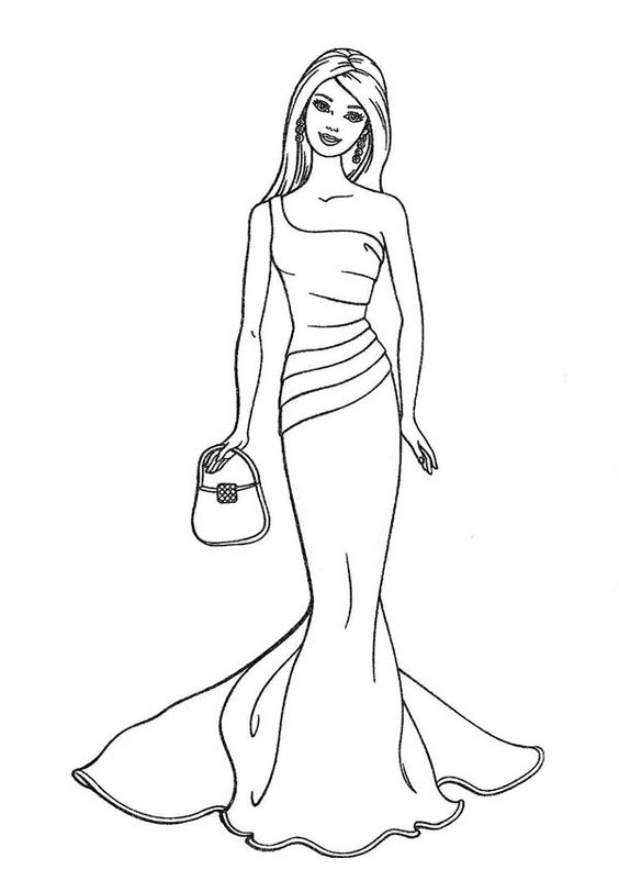 Barbie Coloring Page.58