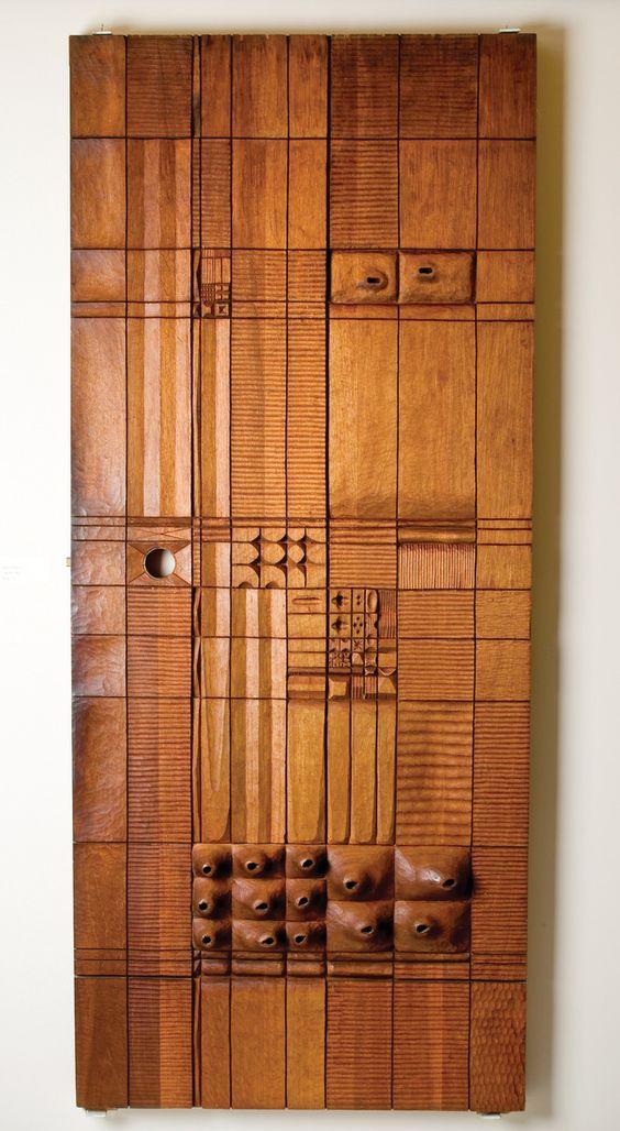 Leroy Setziol Wooden Door Panel Living With Wooden