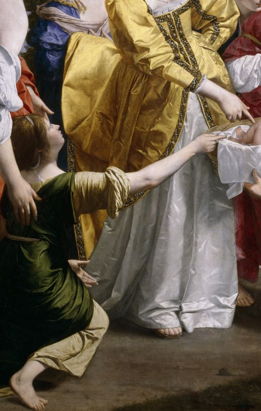 Orazio Gentileschi. Detail from Moses saved from the Waters, 1633.