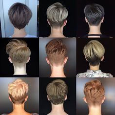 This Is Awesome Great Grid From Courtneyxcentrichair Who Says I Got Your Back Pixie Pi Cheveux Courts Coupe De Cheveux Cheveux Courts Nuque