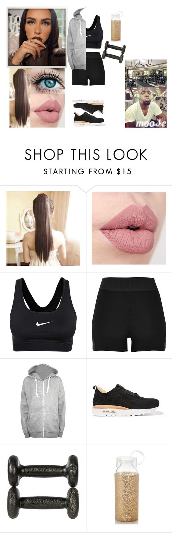 """""""Gym With Bae"""" by themoxleyone ❤ liked on Polyvore featuring NIKE, River Island, WearAll and Kate Spade"""