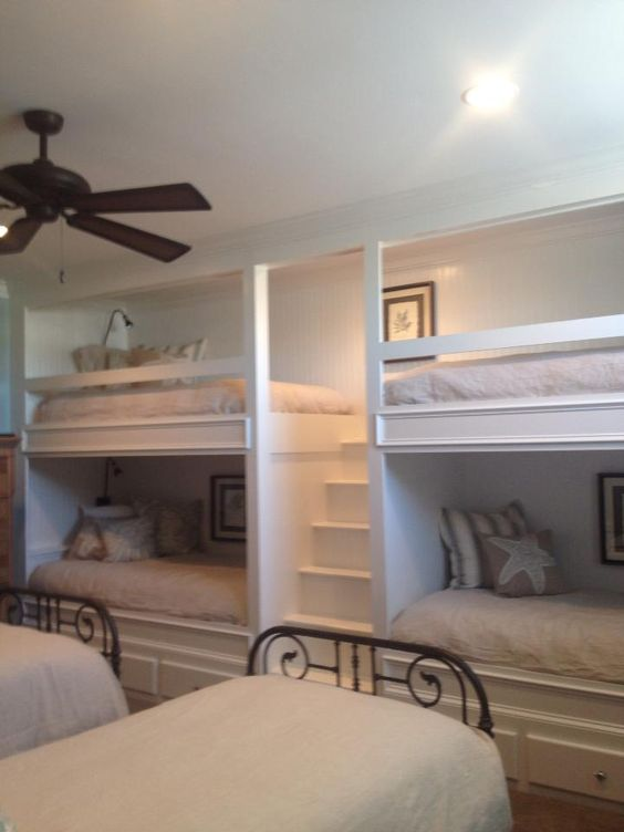 I love these built in bunk beds!