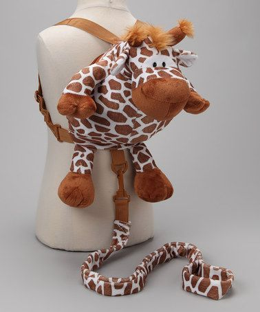 I need this leash for the airport!! Brown Giraffe Backpack Harness by Animal Planet on #zulily today!