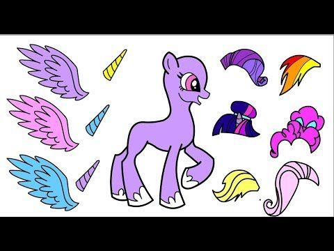 Papercraft Alicorns My Little Pony Making Colorful Hairstyles