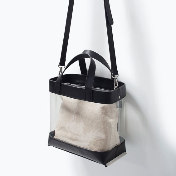 ZARA - WOMAN - VINYL SHOPPER BAG