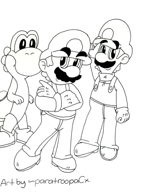 Guarda tutti i disegni da colorare di super mario www for Disegni da colorare super mario