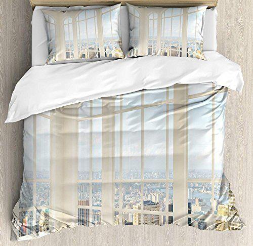 Modern Duvet Cover Set Luxury Soft Hotel Quality 4 Piece Queen