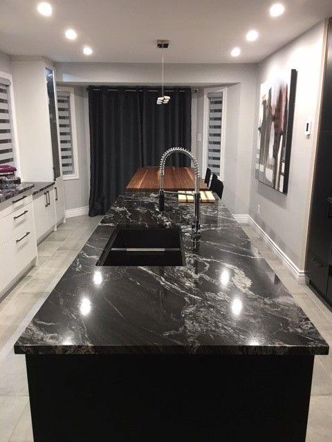 Cuisine Noire Et Blanche Kitchen Design Pictures New Homes Granite Countertops