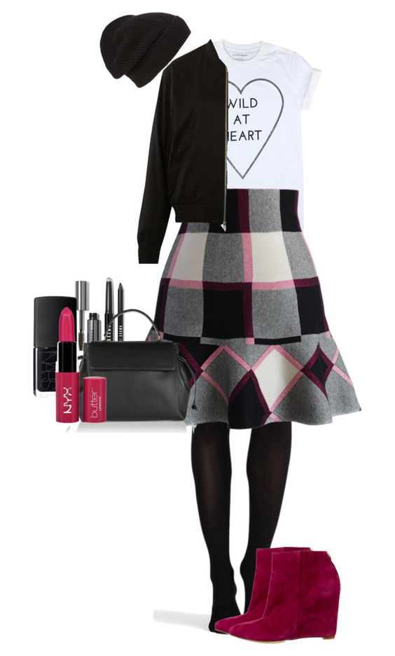"""""""Untitled #67"""" by oddlyfashionable on Polyvore featuring SPANX, Chicwish, Cole Haan, T By Alexander Wang, Phase 3, Bobbi Brown Cosmetics, Lanvin, NARS Cosmetics and NYX"""