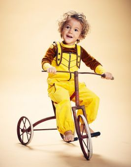 AlbaBabY Hose Billie Zipper Crawlers yellow