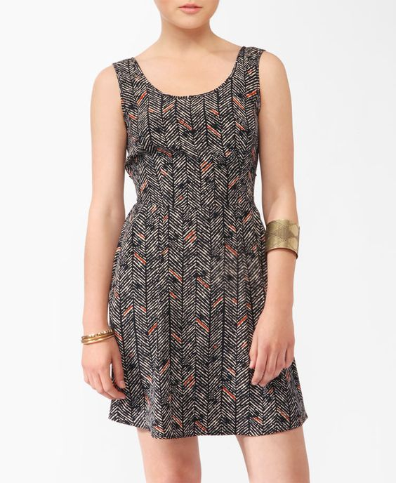 Abstract Open Back Dress | FOREVER21