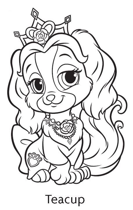 Palace Pets Teacup Coloring Page