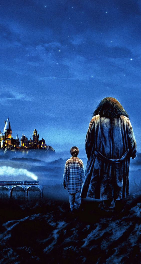 harry potter painting harry and hagrid ios7 hd wallpaper