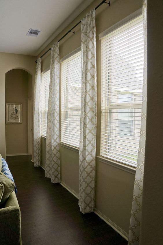 Triple Window Treatment Ideas Living Room Pinterest