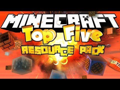 Minecraft TOP 5 MINECRAFT RESOURCE PACKS!