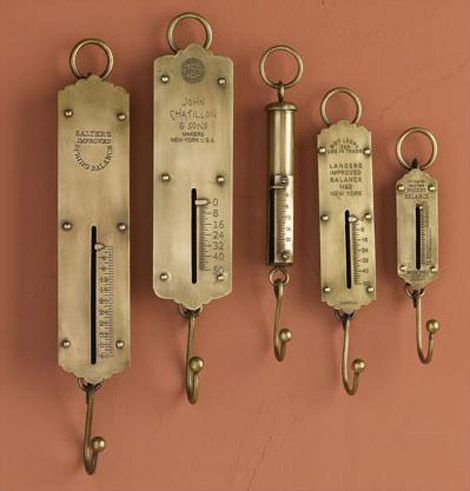 early 20th cen scale hooks awesome to hang things on or