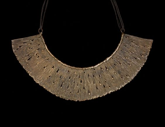 Harry BERTOIA (Italy 1915 - 1978 USA)Beryllium bronze necklace. 1962 Unique necklace formed from fused rods of beryllium bronze made by Harry Bertoia for his daughter Lesta's 18th birthday.Didier Ltd > Harry BERTOIA > Beryllium necklace: