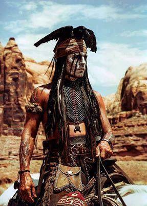 Johnny Depp in THE LONE RANGER. Costume Designer: Penny Rose. (One of Johnny…