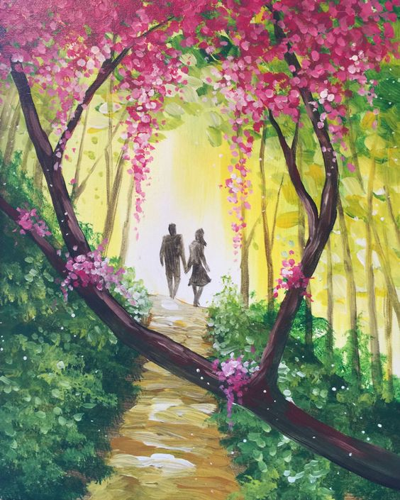 I am going to paint beautiful dreamers at pinot 39 s palette for Easy but beautiful paintings