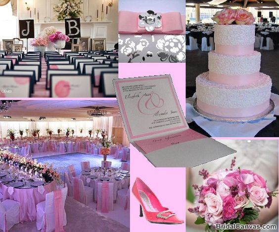 Another pretty in pink wedding board.  This could also be used for a pink themed fundraiser.