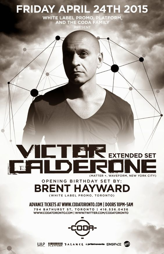 Anew Productions: Tickets VICTOR CALDERONE @ CODA - Toronto, ON