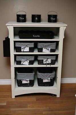 What a cute idea for a dresser.