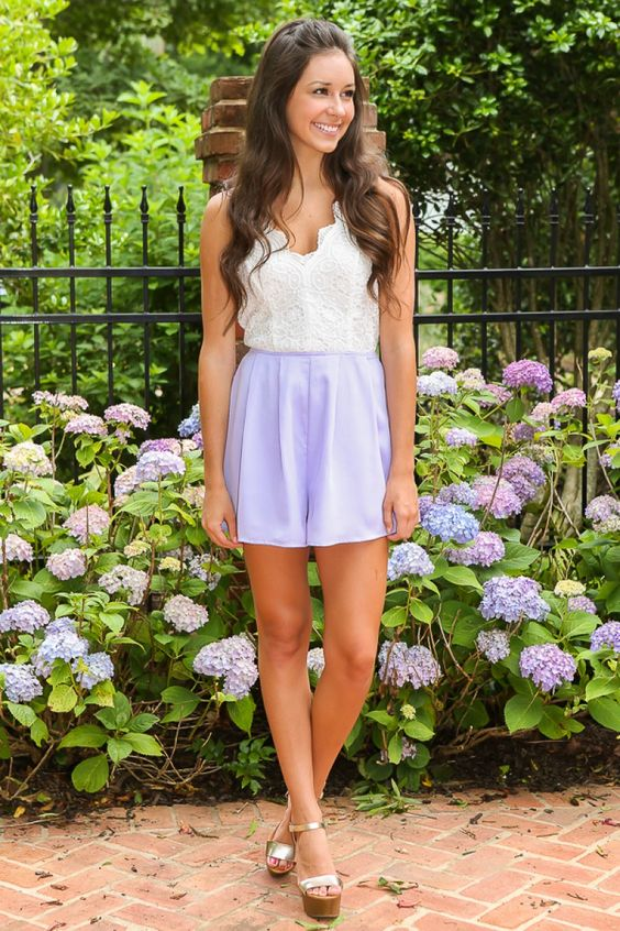 Down By The Coast Romper-Lilac - New Arrivals | The Red Dress Boutique