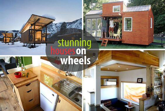 House on wheels wheels and make your on pinterest Modern tiny homes on wheels