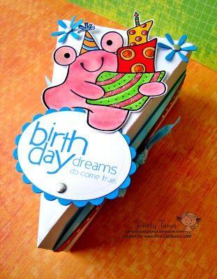 BRIRTHDAY DREAMS...: De Rebanada, Dt Pink, Cajita En, De Torta, As, Novedosas Ideas, Brirthday Dreams, Torta Genial